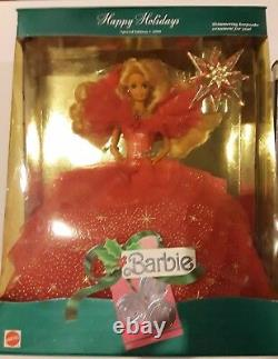 1990 1992 1995-1997 1998 2000 (2) 2001 HAPPY HOLIDAY BARBIE DOLL COLLECTION set