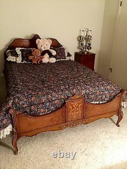Art Deco Bedroom Set Suite 9 Pc +new Floral Comforter French Italian Beautiful