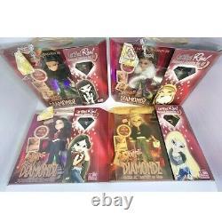 BRATZ Forever Diamondz Set Of 4 Vtg NEW! Rare Dolls Bonus Real Diamond Firm$