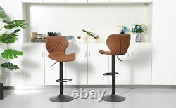 Bar Stools set of 2 Counter Height Adjustable Bar Chair Dining Chairs Set