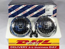 Bosch Vintage Horn set. MERCEDES Benz W108 W110 W111 W113 W115 W116 Free P&P