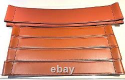 Breuer Wassily Chair Set Bulgaro Leather Parts Made In Italy