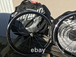 Campagnolo Shamal Black wheel set Road Clinchers NOS Vintage