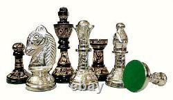 Collectible 100% Brass Vintage Chess board game set 10 with brass pieces/coins