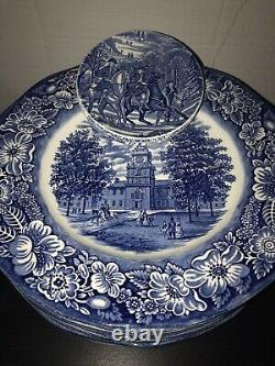 Complete set of Vintage liberty blue dishes