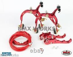 Dia-Compe MX1000 MX120 Red Brake Set Old Vintage School BMX Style Brakes