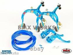 Dia-Compe MX1000 MX121 Bright Blue Brake Set Old Vintage School BMX Style