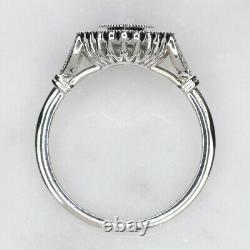 Diamond Marquise Cut Engagement Ring Setting Vintage Style Semi Mount White Gold