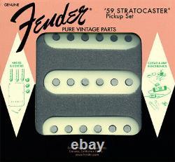 Genuine Fender Pure Vintage'59 StratocasterGuitar Pickups Set AGED WHITE