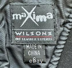 Genuine Leather Mini Skirt VINTAGE Wilson's Maxima Size 4 Matching Corset Small