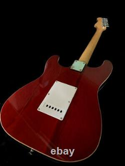 Great Playing-action-new Set Up-trans-amber Up Grade King Electric Guitar