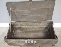 Industrial Storage Chest Set 2 Rustic Trunks Blanket Vintage Retro Wooden Box