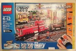 Lego City Trains 3677 Red Cargo Train Special Edition New In Factory Sealed Box