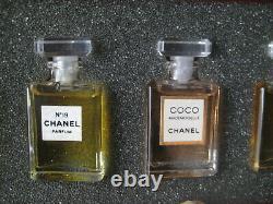 Lot New PARFUM mini Set Vintage Chanel No 19 Coco Mademoiselle 5 Wardrobe