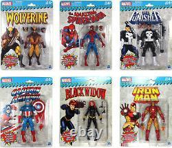 Marvel Legends VINTAGE COLLECTION WAVE 1 SET Wolverine, Cap, Spider-Man+++