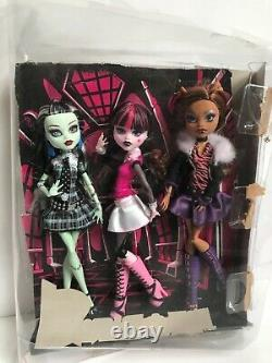 Monster High Original Ghouls Collection Set FRANKIE, DRACULAURA, CLAWDEEN Dolls