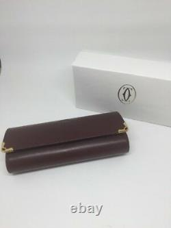 NEW AUTHENTIC CARTIER CASE RED LEATHER BOX EYEGLASSES HARD BOX CASE Complete Set