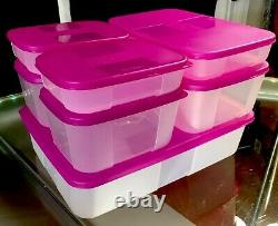 NEW VINTAGE 14 pc TUPPERWARE Freezer Mates Starter Set 7 Containers & 7 Seals