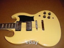 New 6 String Electric Guitar Vintage Blonde Set Neck Gig Bag