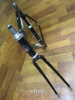 Nos Vintage Trek 5200 Oclv Carbon Frame Set 56 CM Black