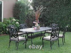 Outdoor Patio Deck Aluminum Furniture 7 Pc Dining Set G