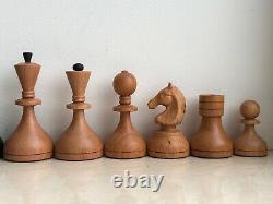 Pieces Only New Medium Wooden Weighted Chess Game Set Tournament Vintage Style