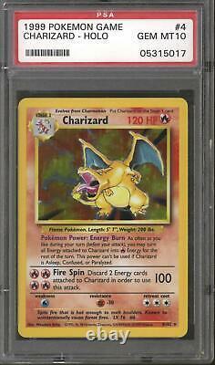 Pokemon Base Set Unlimited Charizard 4/102 PSA 10 GEM MINT (Vintage Case)