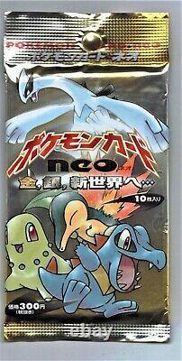 Pokemon NEW Sealed Booster Pack Vintage Japanese Neo Genesis Set
