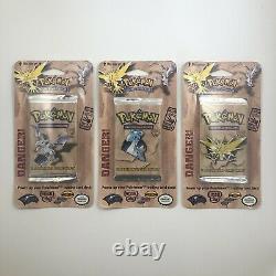 Pokemon Vintage Sealed Booster Blister Packs Base Set/Jungle/Fossil All Artworks