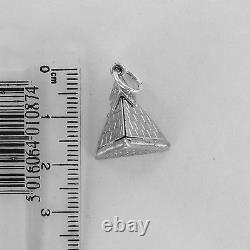 RARE Masonic Folding Pyramid Solid Silver Hallmarked