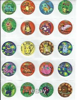 RARE/Vintage Pokemon Go Semi-Complete Set of 50 1st Series Tazos/Taso/Pogs