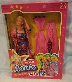 Rare Vintage Superstar Barbie Fashion Change About Set NEW