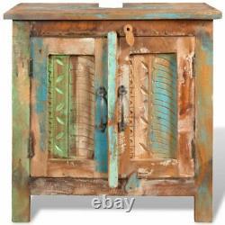 Reclaimed Solid Wood Bathroom Vanity Cabinet Set with Mirror
