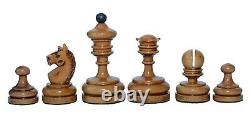 Reproduction Vintage 1930 German Knubbel 3.5 Chess Set in Distressed Antique