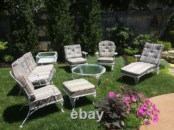 Restored Woodard Chantilly Rose vintage patio furniture set