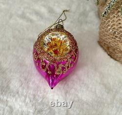 Set 6 Vintage Retro Glass Shatterproof Baubles Christmas Tree Decorations Gift