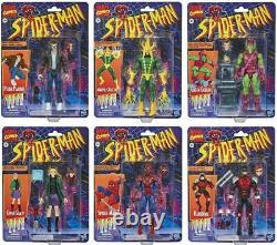 Spider-Man Marvel Legends Retro VINTAGE Collection Wave Set 6 Figures COMPLETE