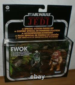 Star Wars EWOK Scouts Action Figure Set NEU SEALED VC TVC Vintage Collection