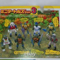 Takara TMNT Teenage Mutant Ninja Turtles mini Turtles set 3 vintage rare NEW