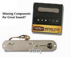 Telecaster Pickups & Harness Set-Tonerider-Vintage Plus TRT1
