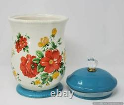 The Pioneer Woman Vintage Floral Rose Shadow Blossom Jubilee Canister Set
