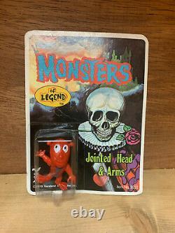 Tomland Famous Monsters Of Legend Set, Glow, Moc, Mini Figures, Vintage, Rare