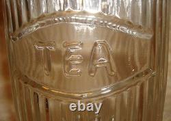 Unique Vintage Rustic Hoosier Kitchen Cabinet Mfg. Co Glass 4 piece Canister Set