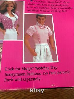 Vintage 1990 Wedding Party Midge Gift Set of 6 Barbie Dolls, No. 9852, NRFB