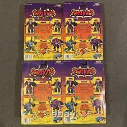 Vintage 1994 Remco Swat Kats Figures Razor T-Bone Dr. Viper Dark Hat Sealed Set