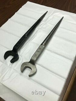 Vintage BETHLEHEM STEEL Structural Spud Offset Wrench Set 7/8, 1, 1-1/4