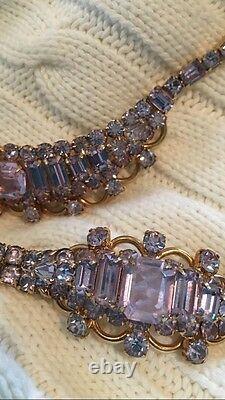 Vintage Kramer Of New York Alexandrite Necklace Earrings Bracelet Set Jewelry