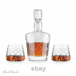 Vintage Lead-free Crystal WHISKEY DECANTER 1L Whisky Drinking Set With Glasses