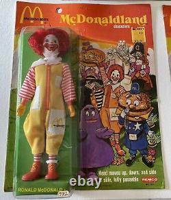 Vintage McDonald's REMCO 1976 Action Figure McDonald's set of 7, New MOC