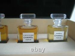 Vintage PARFUM Set Chanel No 22 Gardenia Bois des Iles Cuir de Russie perfume